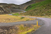 Winding Road through Iceland Volcanic Landscape — Stock Photo