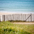 Wooden fence at Northern beach in France — ストック写真