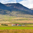 Farmhouse in Mountains of Iceland — 图库照片