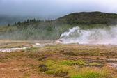 Iceland: Smidur Geyser at overcast weather — Stock Photo