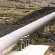 Industrial Pipe at a Geothermal Power Station in Iceland — Stock Photo