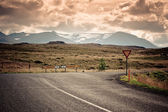 Road Junction at North Iceland Mountain Landscape — Stock Photo