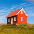 Bright Red Siding House in Iceland — Stock Photo