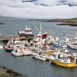 Typical Iceland Harbor with Fishing Boats — Stock Photo #23357724