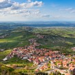 Modern San Marino Suburban districts view from above - Stock Photo
