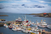 Typical Iceland Harbor with Fishing Boats — Stock Photo