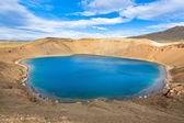 Crater of an extinct volcano Krafla in Iceland filled with water — Stock Photo