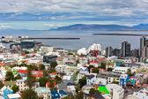 アイスランド、レイキャビク、ビューの首都 — ストック写真