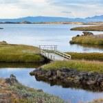 Myvatn Lake landscape at North Iceland — Stock Photo #23485631