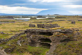 Myvatn Lake landscape at North Iceland — Stock Photo