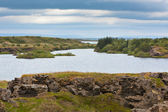 Myvatn Lake at North Iceland at Overcast Weather — Stock Photo