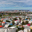 Capital of Iceland, Reykjavik, view - Stock Photo