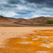 Stock Photo: Namafjall, Geothermal Arewith Sulfur Fields in Iceland