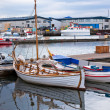 Typical Iceland Harbor with Fishing Boats at Overcast Day — Stock Photo #23813849