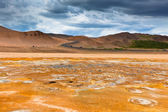 Namafjall, a Geothermal Area with Sulfur Fields in Iceland — Stock Photo
