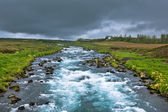 Summer Iceland Landscape with Raging River — Stock Photo