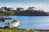 Old White Boat at Icelandic Landscape — Stock Photo