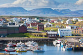 The town of Stykkisholmur, the western part of Iceland — Foto de Stock