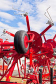 New Hay Raker Farm Equipment Detail — Stock Photo