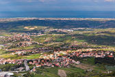View from Titano mountain, San Marino at neighborhood — Stock Photo