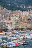Monaco Harbour, Monte Carlo, view. — Foto de Stock
