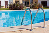 Outdoor Swimming pool with Ladder. — Stock Photo