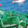 Lobster and Crab traps stack in port — Stock Photo #25017403