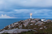 Working Lighthouse at Northern Spain in Bad Weather — Stock Photo