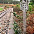 Old Rural Railroad at Northern Spain - Stock Photo