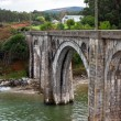 Old Rural Railroad viaduct at Northern Spain. — Stock Photo