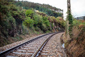 Old Rural Railroad at Northern Spain — Foto Stock
