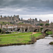 View of Carcassonne in Languedoc-Rosellon (France) — Stock Photo