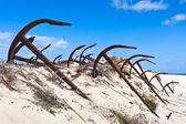 Cmentarz stary kotwice, wybrzeża portugalii — Zdjęcie stockowe