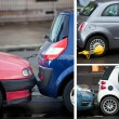 Urban Scenics with Car Parking — Stock Photo