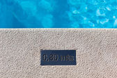 Outdoor Swimming pool detail — Stock Photo