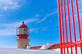 Lighthouse of Cabo Sao Vicente, Sagres, Portugal — Stock Photo