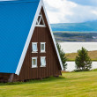 Typical Holiday House at North Iceland — Stock Photo