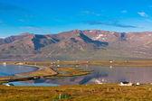 North Iceland Sea Lagoon Landscape — Stock Photo