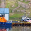 Typical Iceland Harbor with Fishing Boats — Stock Photo #35343059