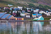The town of Siglufjordur, the Northern part of Iceland — Photo