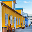 Restaurant street at small North Iceland town — Stock Photo #35417197