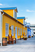 Restaurant street at small North Iceland town — Stock Photo
