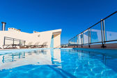 Outdoor swimming pool at the House roof — Stok fotoğraf