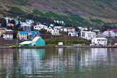 The town of Siglufjordur, the Northern part of Iceland — Stockfoto