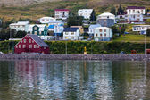 The town of Siglufjordur, the Northern part of Iceland — Stock Photo