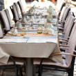 Cozy Restaurant tables ready for service — Stock Photo