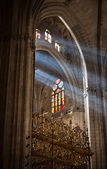 Sunbeams in Sevilla Cathedral, Spain — Stock Photo