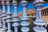 Plaza de Espana Balustrade Detail, Sevilla, Spain — Stock Photo