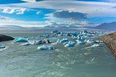 Jokulsarlon Glacier Lagoon in Vatnajokull National Park, Iceland — Stock Photo