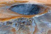 Hot Mud Pot in the Geothermal Area Hverir, Iceland — Foto Stock